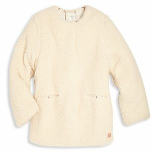CARREMENT BEAU Girl's Faux Fur Coat